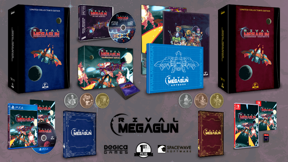 Rival Megagun Nintendo Switch and PS4 Physical and Collector's Editions